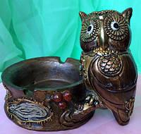 Денежная сова фэн - шуй (пепельница), символ мудрости и благополучия, высота 12 см.