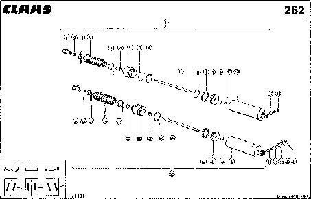 """ГИДРАВЛИЧЕСКИЙ ЦИЛИНДР; """"3-D"""" РЕШЕТНЫЙ СТАН - CLAAS LEX 410-405"""