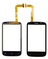 Сенсорный экран HTC Desire C A320e черный (тачскрин, стекло в сборе)