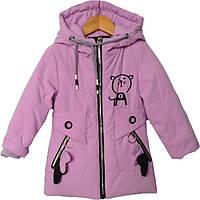 """Куртка детская демисезонная """"Andinaisi"""" #8753 для девочек. 2-3-4-5-6 лет. Сиреневая. Оптом., фото 1"""