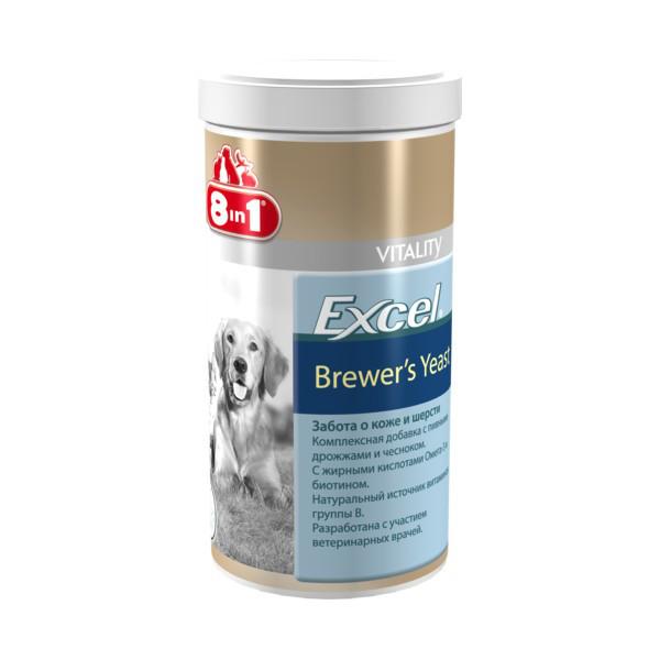 8in1(8в1) EXCEL BREVERS YEAST (ЕКСЕЛЬ БРЕВЕРС ДЖЕСТ) харчова добавка для собак (780 табл)