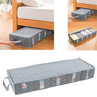 Органайзер (подкроватный) для хранения белья и одежды 97*30*15 Бамбуковые волокна, фото 1