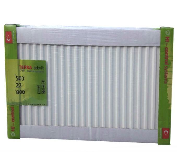 Батарея панельного типа с боковым подключением TERRA Teknik (низ) 22 тип 500 x 500