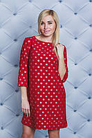 Платье женское короткое красное, фото 1