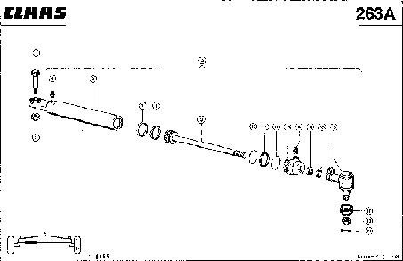 УПРАВЛЯЮЩИЙ ЦИЛИНДР (75 MM) - CLAAS LEX 410-405