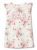 Трикотажное платье для девочки GAP в цветочный принт