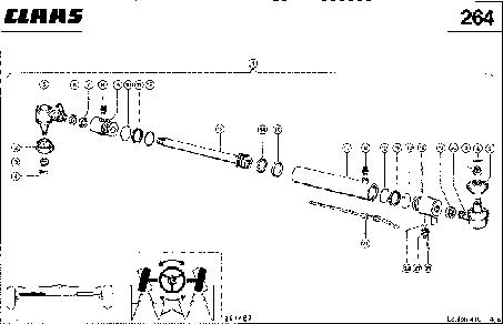 УПРАВЛЯЮЩИЙ ЦИЛИНДР ДЛЯ АВТОПИЛОТА - CLAAS LEX 410-405