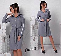 Платье - рубашка. Турция.Ткань - креп - костюмка высокого качества. (11082) М