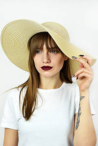 Широкополая шляпа Фрейзер бежевый