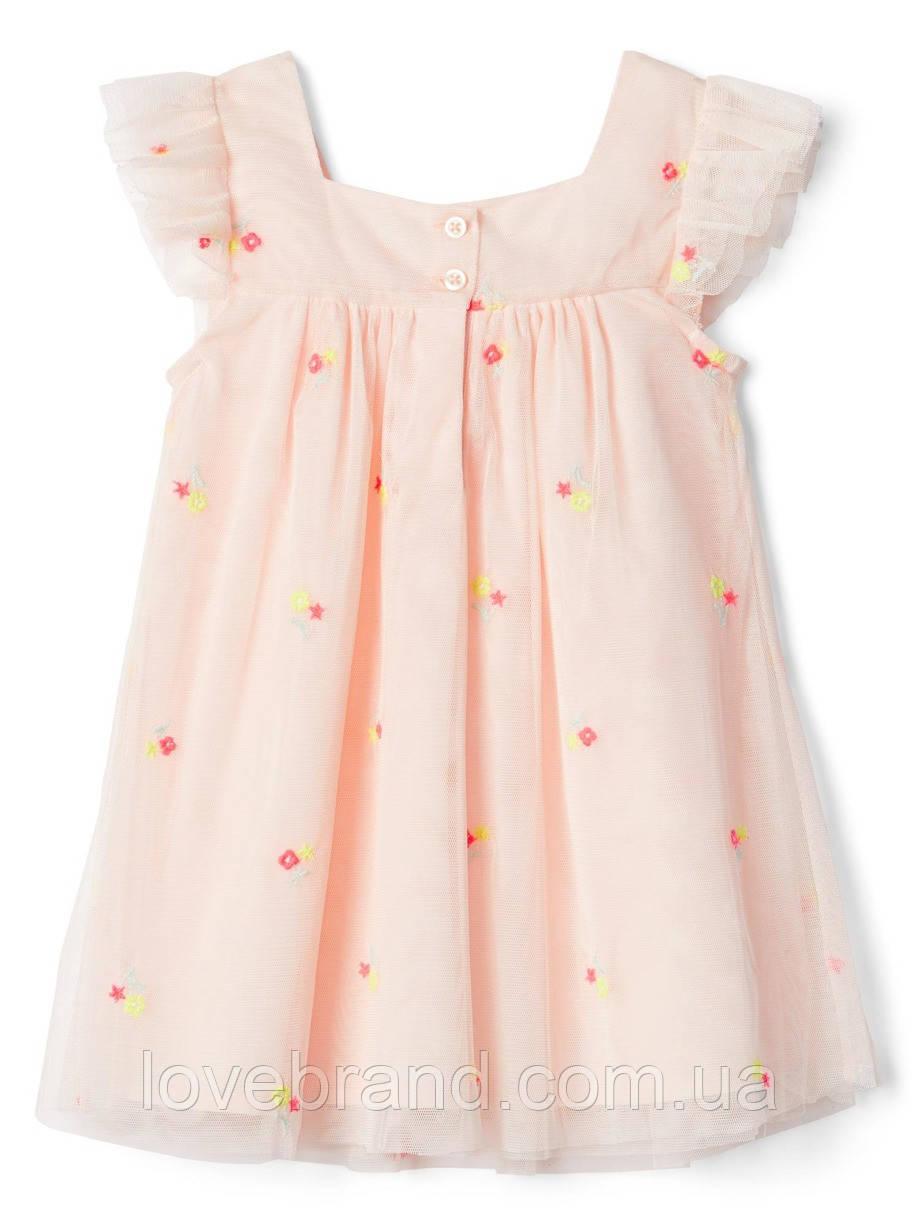 a2af5f612191866 Нежное летнее платье для девочки GAP с вышивкой цветочки 6-12 мес/68 ...
