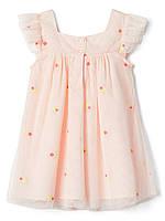 Нежное летнее платье для девочки GAP с вышивкой цветочки