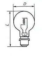 Лампа прожекторная ПЖ 12v - 50w P28s/24
