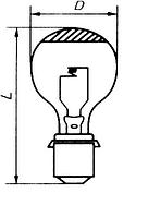 Лампа прожекторная зеркальная ПЖЗ 24v - 500w -3 P40s/41
