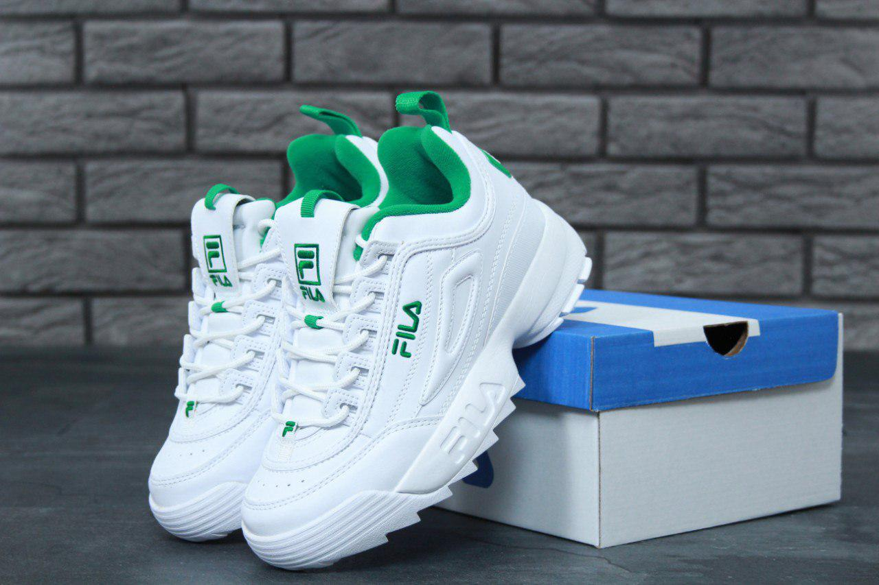 Кроссовки женские Fila Disruptor 2 White Green Реплика - Work Hard Shop в  Киеве 216b38de066d9