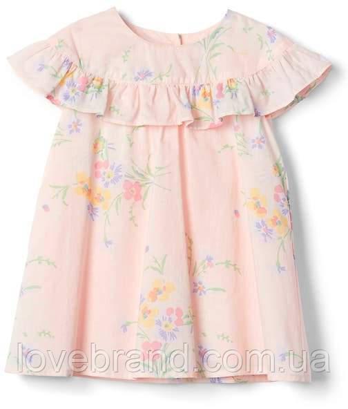 Легкое летнее платье для девочки GAP с в нежный цветочный принт