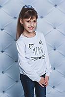 Кофта детская с печатью белая, фото 1