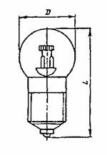 Лампа накаливания оптическая ОП 8-3,2 Е10/13-1