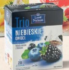 Чай Lord Nelson Trio niebieskie owoce 20 пакетов