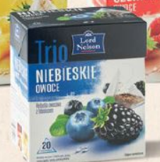 Чай Lord Nelson Trio niebieskie owoce 20 пакетов, фото 2