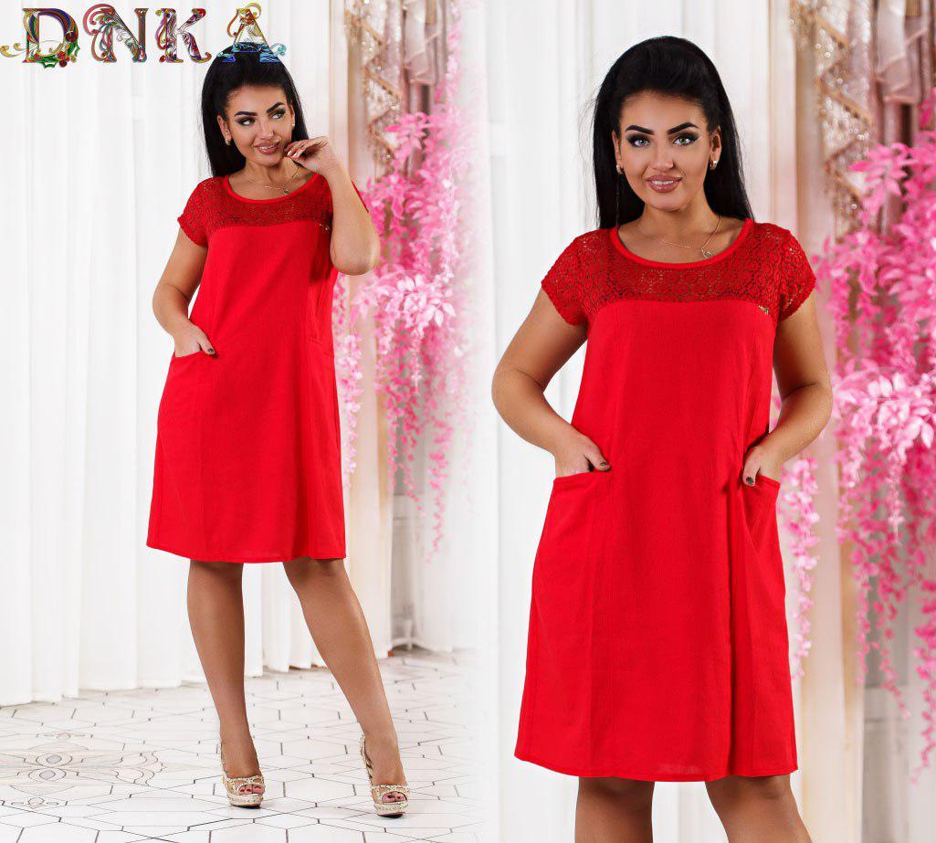 4ae0df22bf7 Льняное легкое платье красного цвета - Интернет-магазин