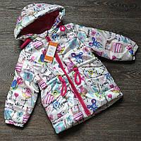 Куртка весенняя для девочки «Китти» 86-104р, фото 1