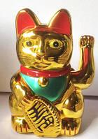 Манэки нэко  (кот счастья, манящий кот) фэн - шуй, высота 15 см.