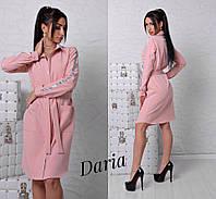 Платье - рубашка. Турция.Ткань - креп - костюмка высокого качества. (11082)