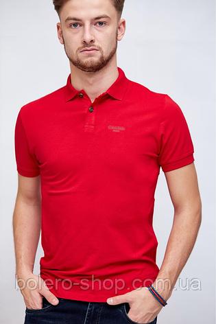 Мужское Поло красное Calvin Klein  продажа 4e65e1cc9a004