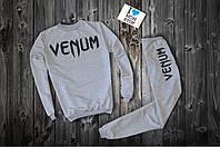 Спортивный серый костюм | Venum logo