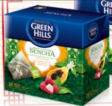 Чай Green Hills Sencha 20 пакетов, фото 2