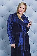 Халат махровый женский т-синий, фото 1