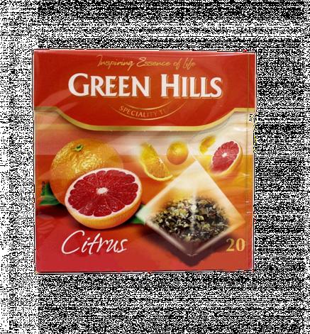 Чай Green Hills citrus 20 пакетов, фото 2