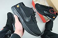 Кроссовки мужские Off White x Nike Flyknit Racer Black / AA526628-009, Найк Рейсер (Реплика)