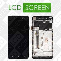 Дисплей для Lenovo S90 с сенсорным экраном, черный, модуль ( дисплей + тачскрин )
