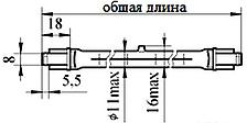 Кварцова Лампа галогенна теплова КГТ 220v - 1000w-1 НРа15/20