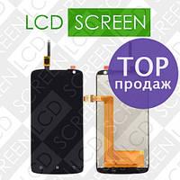 Дисплей для Lenovo S820 с сенсорным экраном, черный, модуль ( дисплей + тачскрин )