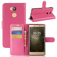 Чехол Sony L2 / H4311 / H3311 / H3321 / H4331 книжка PU-Кожа розовый