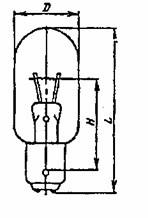 Лампа накаливания оптическая ОП 7-10 B15d