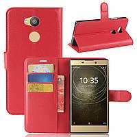 Чехол Sony L2 / H4311 / H3311 / H3321 / H4331 книжка PU-Кожа красный