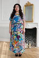 Шифоновое длинное платье