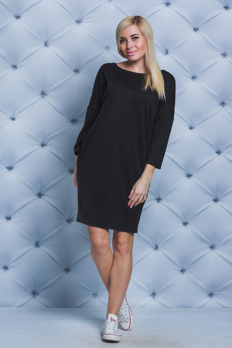 Женское платье короткое черное