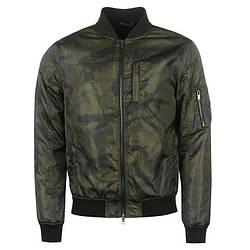 Мужская куртка бомбер Firetrap Printed Bomber хаки оригинал J0003/03