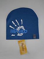 """Шапка для мальчика """"Hip-Hop"""", (двойной трикотаж), р. 46-48 см"""