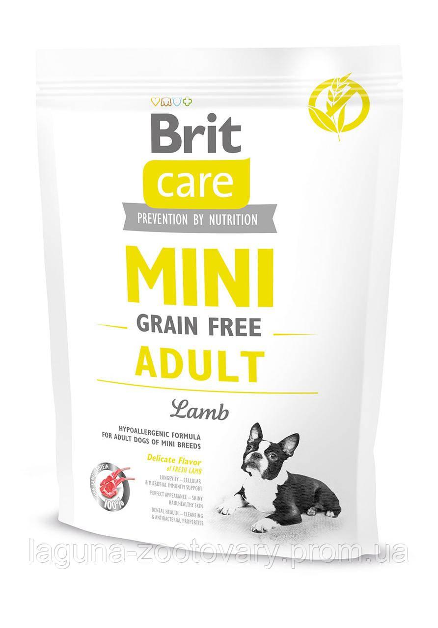 Брит Кер 400гр для взрослых собак мелких пород  ягненок Brit  Care GF Mini Adult Lamb