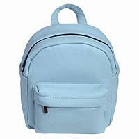 Женский рюкзак Brix мини голубой из эко-кожи украинского производства, фото 1