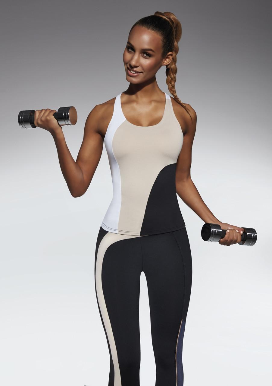 Спортивный женский топ BasBlack Flow-top 50 (original), майка для бега, фитнеса, спортзала