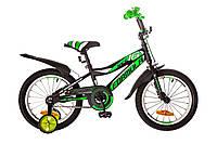 Велосипед детский двухколесный Formula Race 16 черно- салатный OPS-FRK-16-034
