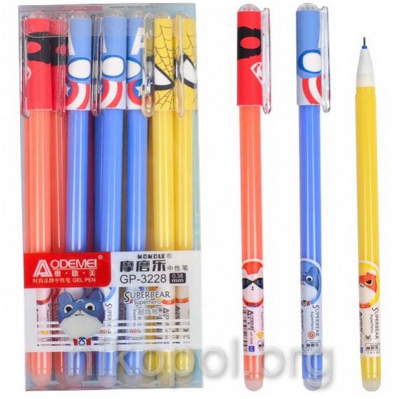 "Ручка ""пиши-стирай"" ""Супер-герої"" синя (GP-3228)"