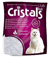 Наполнитель силикагелевый для кошачьего туалета Cristals fresh с лавандой, 3,6 л
