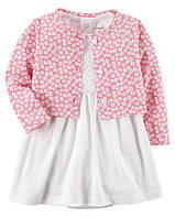 Копия Набор платье ! кардиган для девочки в белом и розовом цвете